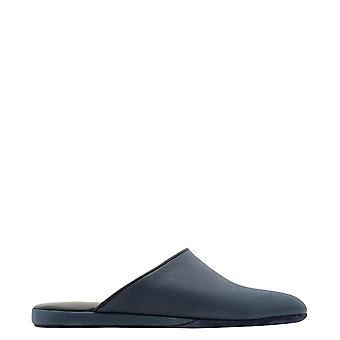 Farfalla Orm3aitalo Men's Blue Leather Slippers