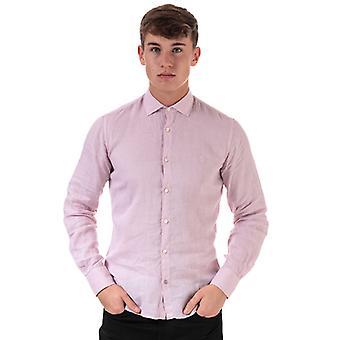 Homme & s Henri Lloyd Linen Chemise à manches longues ajustée en rose