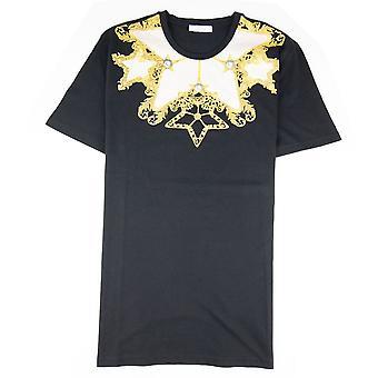 Versace Collection Girocollo Print T Shirt Czarny