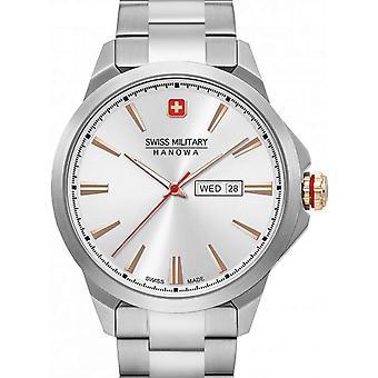 Reloj masculino militar suizo Hanowa 06-5346.04.001, cuarzo, 45 mm, 10ATM