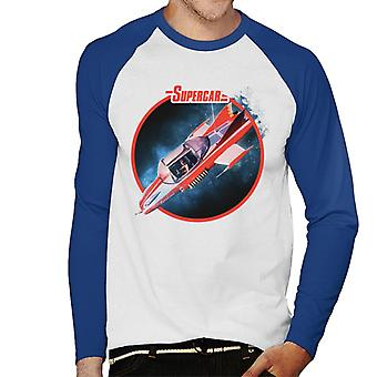 Supercar In The Air Men's Baseball Long Sleeved T-Shirt