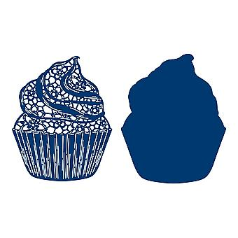 Tattered Pitsi Cupcake Die Set