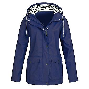 Women Raincoat Outdoor Camping Windproof Jacket-coats