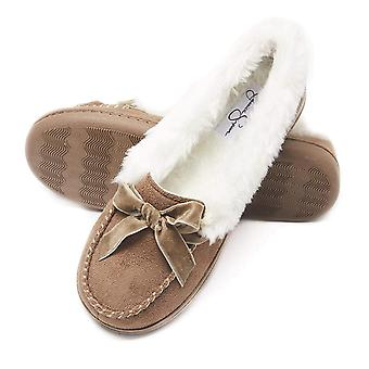 Jessica Simpson Womens micro Suede mocassin intérieur extérieur chausson chaussure