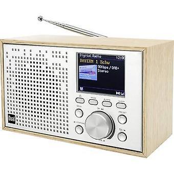 Dual DCR 100 Desk radio DAB+, FM Bluetooth, DAB+, FM Alarm clock Wood (light)