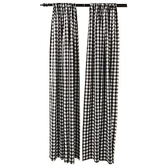 La Linen Pack 2  Polyester Gingham Checkered Backdrop, 58 By 96-Inch,Black/White