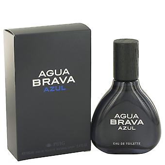 Agua Brava Azul Eau De Toilette Spray af Antonio Puig 3,4 oz Eau De Toilette Spray