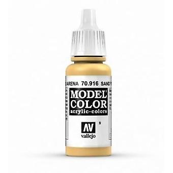 Vallejo Model Color 17ml Acrylic Paint - 916 Sand Yellow