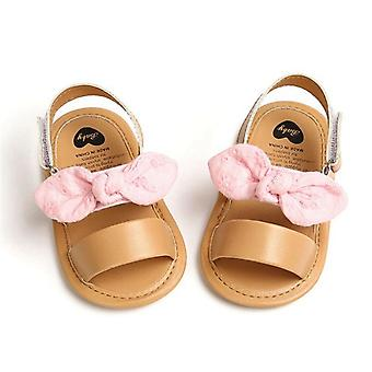 Newborn Infant Pu Baby Princess Shoes, Bowknot Toddler Sandals