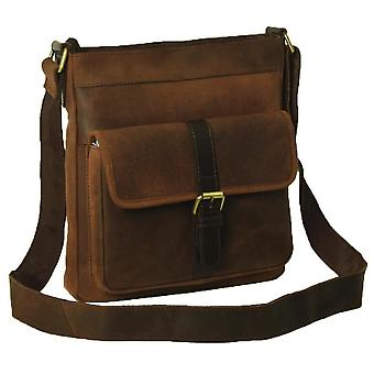 Ashwood nahka Doug Cross Body Laukku - Tornado Brown