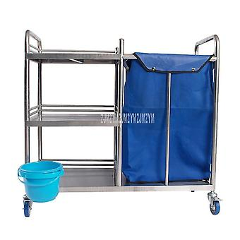 Stainless Steel Rubbish Garbage Quilt Towel Dirt Cart