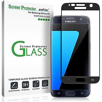 HanFei Panzerglas Schutzfolie fr Galaxy S7, Vollstndige Abdeckung (Schutz Hllenfreundliche) Glas