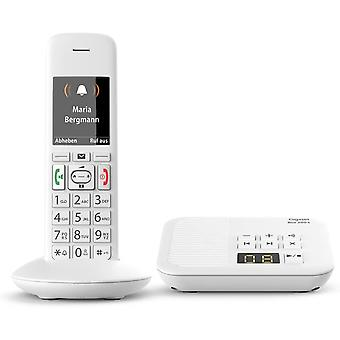 HanFei E370A Schnurloses Telefon (fr Senioren mit Anrufbeantworter, mit groen Tasten und