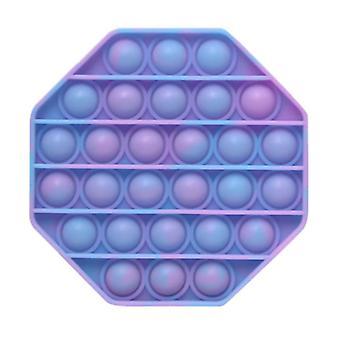 Stuff Certified® Pop It - Washed Fidget Anti Stress Toy Bubble Toy Silicone Octagon Blue-Purple