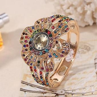 Flower Shape, Jewelry Bracelet, Crystal Quartz, Watches