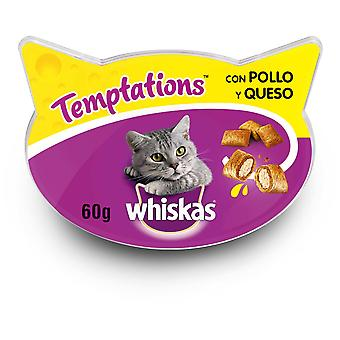 Whiskas Temptations Treats for Cats Chicken and Cheese Flavor (Cats , Treats , Biscuits)