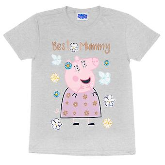 Peppa Pig Womens/Ladies Best Mummy Pig Boyfriend T-Shirt