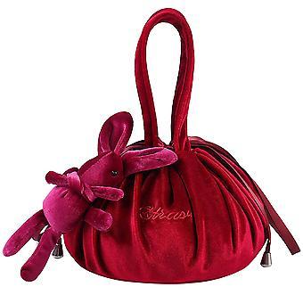 Drawstring velvet travel portable storage bag