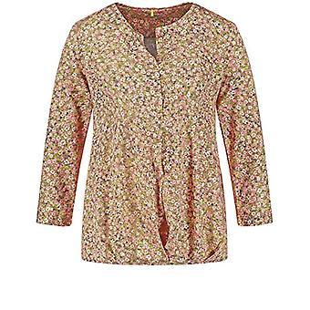 Gerry Weber T-Shirt 3/4 Arm, Purple/Pink/Green Print, 54 Woman