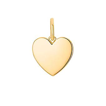 s.Oliver, naisten riipus, hopea 925 kullattu sydän kaiverrettu