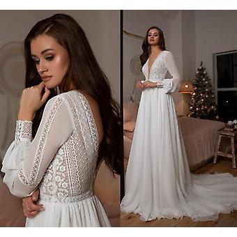 Boho Bridal Long Sleeve Wedding Dresses