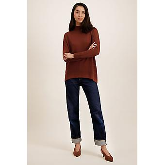 Loop Cashmere Turtle Neck Sweater In Spice