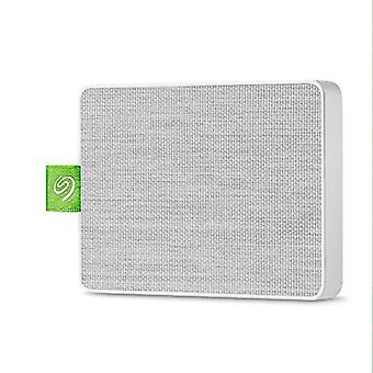 """Seagate Ultra Touch SSD, 500 GB, prenosný externý disk SSD, 2,5"""", USB 3,0, PC & Mac, čierna, 4 mo Adobe Creative Cloud plán fotografie a trojčlenné záchranné služby (STJW500401)"""
