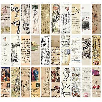 nouveau b 30pcs boîte vintage rétro horloge journal carte imprimé signets sm32704