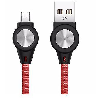 Mikro kırmızı evrensel 3a telefon hızlı şarj veri kablosu az11625 için 2 Adet