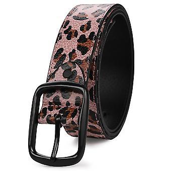 Rózsaszín egy s 115cm utánzott recsegéd leopárd öv divat személyiség all-match öv homi2933