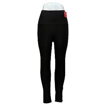 Spanx Leggings Seamless Side Zip Black Jogger A297851