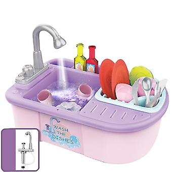 Sink And Dishwasher - Interactive & Realistic With Sounds - Pretend Play Appliance For Kids