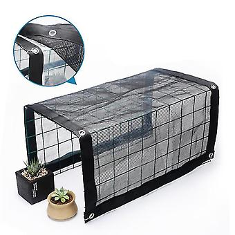 Sunshade Rainproof Awning Heat Preservation And Sunscreen Round Wire Mesh Flower Stand(50*48*36cm)