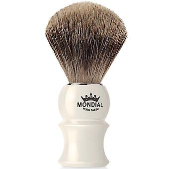 Mondial 1908 Best Badger Shave Brush Faux Ivory