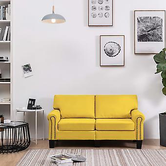 vidaXL 2 siège canapé jaune tissu