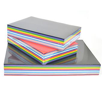750 Vivid Card Sheets for BULK Crafts - A4 & A5 Mix | Coloured Card for Crafts