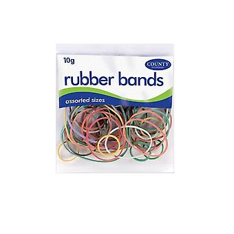 County Stationery Rubber Bands (Pack of 36)