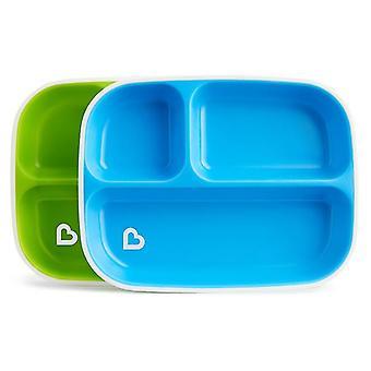 Munchkin splash divider plates 2pk blue and green