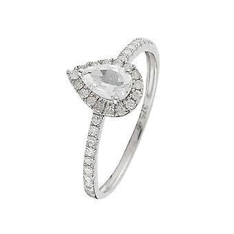 Ring 'Pescara Topaz' White Gold and Diamonds