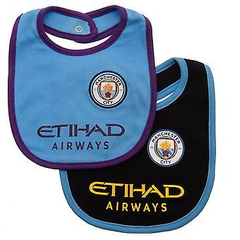 Manchester City FC baby unisex bibs (pakke med 2)