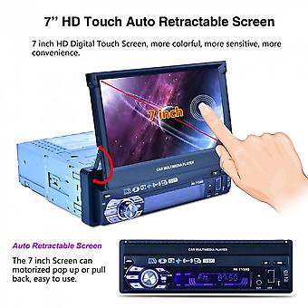 """Full Automatic Folding Single Din 7"""" Hd Touch Retractable Screen Mp5 Player"""