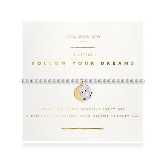 """ג'ומה תכשיטים זוהרים מעטים בצע את החלומות שלך כסף 17.5 ס""""מ מתיחה צמיד 4215"""