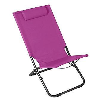 כיסא חוף פלדה סגול (62 x 48,5 x 28/72)