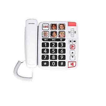 Ligne fixe pour les personnes âgées Swiss Voice Xtra 1110 White