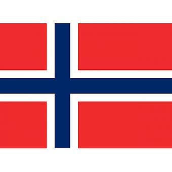 Union Jack lleva la bandera nacional de Noruega 5' x 3'