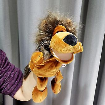 30cm Beinbein Tier Handpuppe Plüsch Spielzeug Löwe Handpuppen Pädagogische Geschichte Puppe Spielzeug