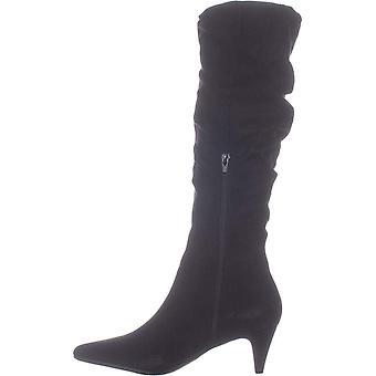 Bar III Womens Edina Fabric Pointed Toe Knee High Fashion Boots