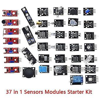 Para arduino 45 en 1 módulos de sensores kit de inicio mejor que 37in1 kit de sensor 37 en 1 kit de sensor uno