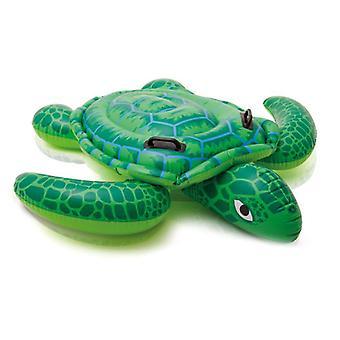 בריכה מתנפחת מימיגו לצוף, צינורות מתנפחים צעצועי מים כיף לילדים מבוגרים, מים שחייה ערסל צב גדול, מתנפח Ride-on, צף שורה Swimmin