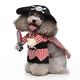 Mimigo Puppy Dog Pet Clothes Hoodie Warm Puppy Autumn Winter Coat Doggy Fashion Jumpsuit Apparel  Halloween Cosplay Striped Pirate